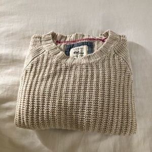 Cotton on cropped knit sweater